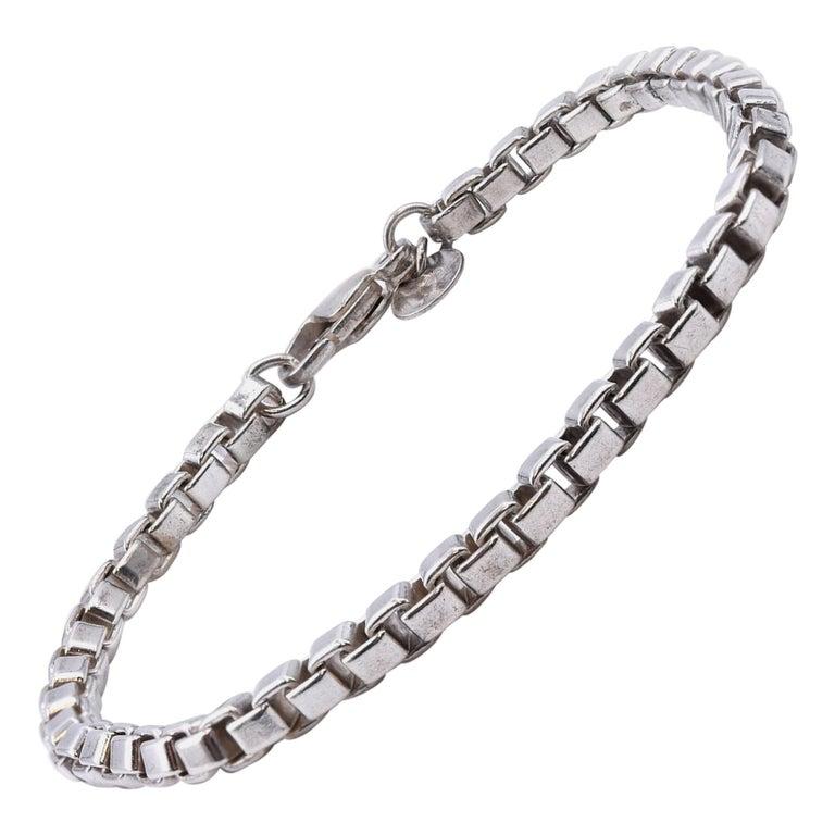 Tiffany & Co. Sterling Silver Venetian Link Bracelet For Sale