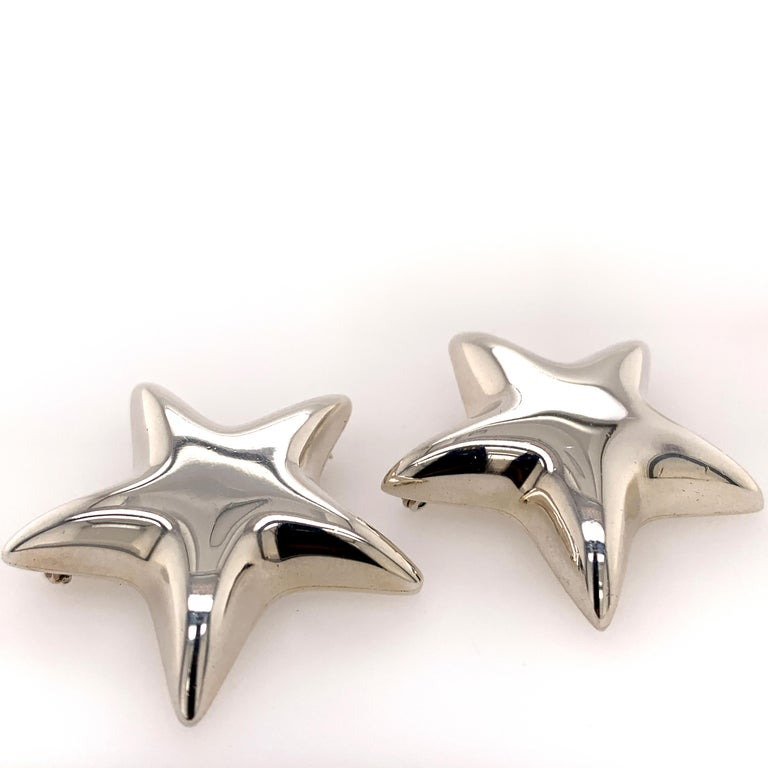 Tiffany & Co. Sterling Star Pins In Excellent Condition For Sale In New York, NY