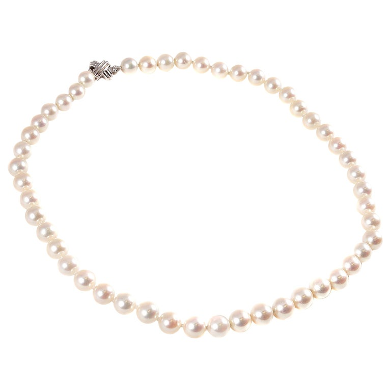 Tiffany & Co. Strand of Pearls For Sale