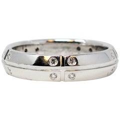 Tiffany & Co. Streamerica .30 Carat Round Diamond Band Ring 18 Karat White Gold