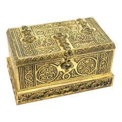 Tiffany & Co. Studios New York Gilt Bronze Inkwell Box in Venetian #1641