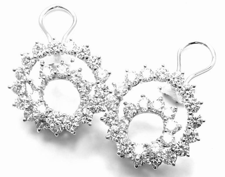 Tiffany & Co. Swirl Diamond Platinum Earrings For Sale 7