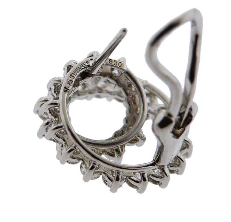 Women's Tiffany & Co. Swirl Diamond Platinum Earrings For Sale