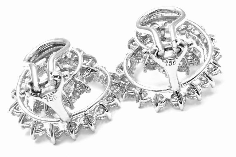 Tiffany & Co. Swirl Diamond Platinum Earrings For Sale 2