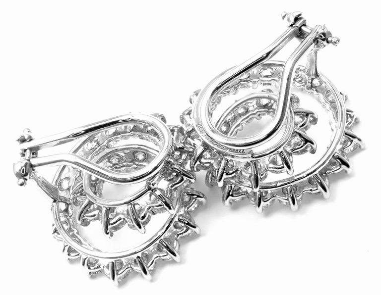 Tiffany & Co. Swirl Diamond Platinum Earrings For Sale 4