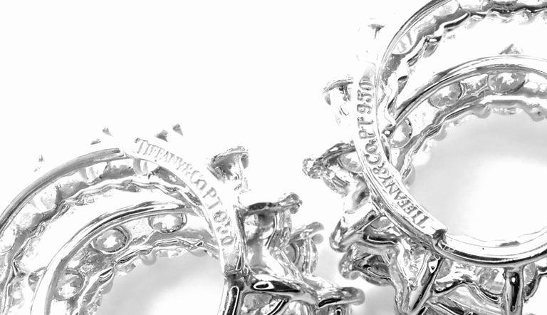 Tiffany & Co. Swirl Diamond Platinum Earrings For Sale 5