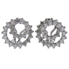 Platinum Clip-on Earrings
