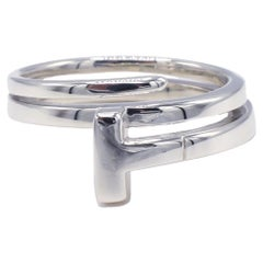 Tiffany & Co. T Collection Sterling Silver Wrap Coin Ring