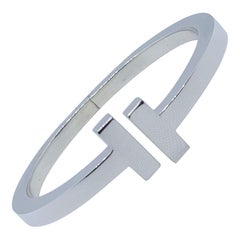 Tiffany Co T Square Bracelet, Silver, Excellent Condition