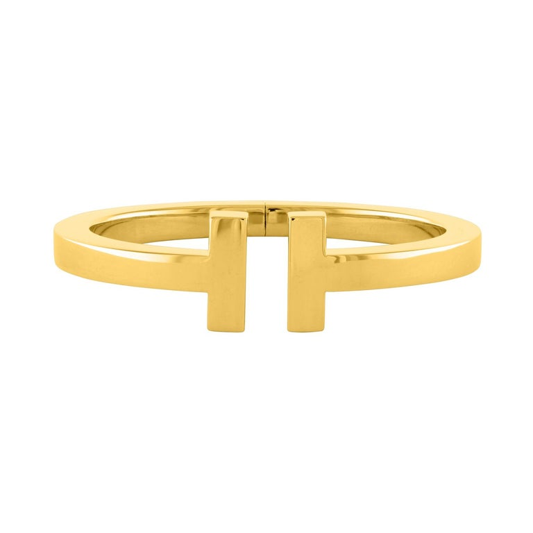 1ed7179e9e75 Tiffany and Co. T Square Bracelet Yellow Gold Bangle For Sale at 1stdibs
