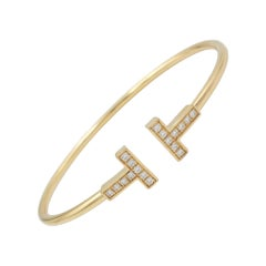 Tiffany & Co. T Square Gold Diamond Bracelet