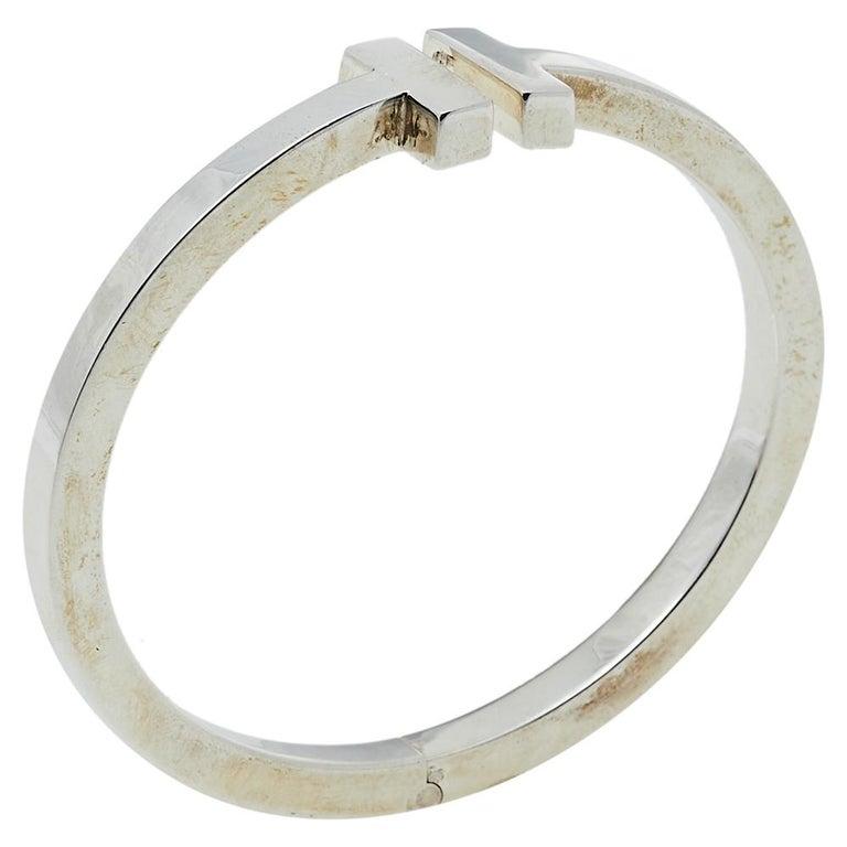 Tiffany & Co. T Square Sterling Silver Bracelet In Good Condition In Dubai, Al Qouz 2