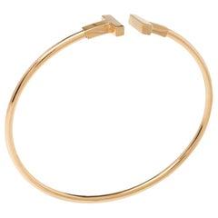 Tiffany & Co. T Wire 18K Rose Gold Bracelet