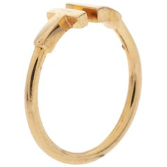 Tiffany & Co. T Wire 18K Rose Gold Open Ring Size 55