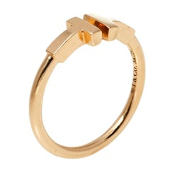 Tiffany & Co. T Wire 18K Rose Gold Ring Size 54