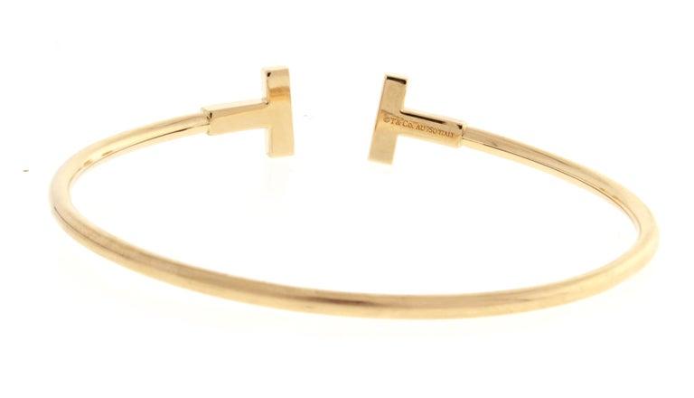Women's or Men's Tiffany & Co. T-Wire Diamond Bracelet For Sale