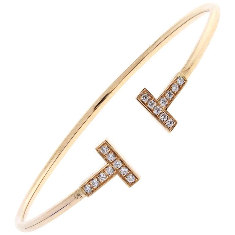 Tiffany & Co. T-Wire Diamond Bracelet For Sale