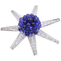Tiffany & Co. Tanzanite and Diamond Brooch