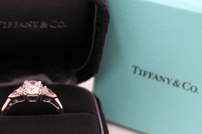 134588df2cc Round Cut Tiffany   Co. Three-Stone Diamond Engagement Ring 1.60 Carat E  VVS1