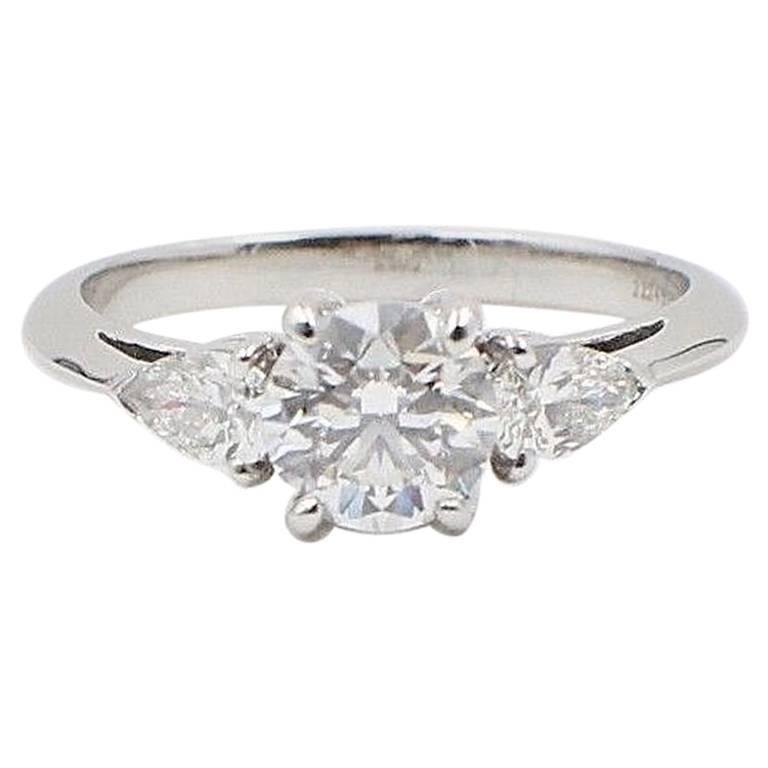 92a31f7ca Tiffany & Co. Three-Stone Diamond Engagement Ring 1.60 Carat E VVS1  Platinum For