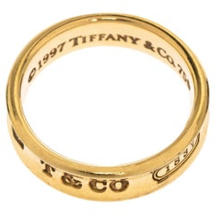 Tiffany & Co. Tiffany 1837 18K Yellow Gold Band Ring Size 63