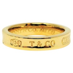 Tiffany & Co. Tiffany 1837 Collection Engraved Band Ring in 18 Karat Yellow Gold