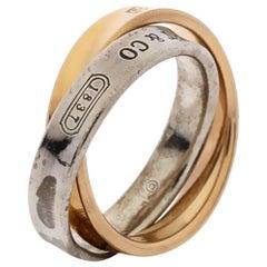 Tiffany & Co. Tiffany 1837 Interlocking Circles 18K Rose Gold Ring Size 47