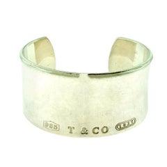 Tiffany & Co. Tiffany 1837 Sterling Silver Wide Cuff / Bangle