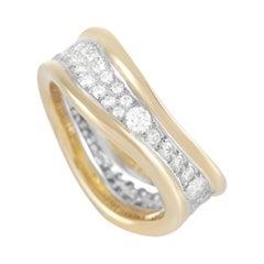 Tiffany & Co. Tiffany 18K Yellow Gold 1.00 Ct Diamond Curved Band Ring