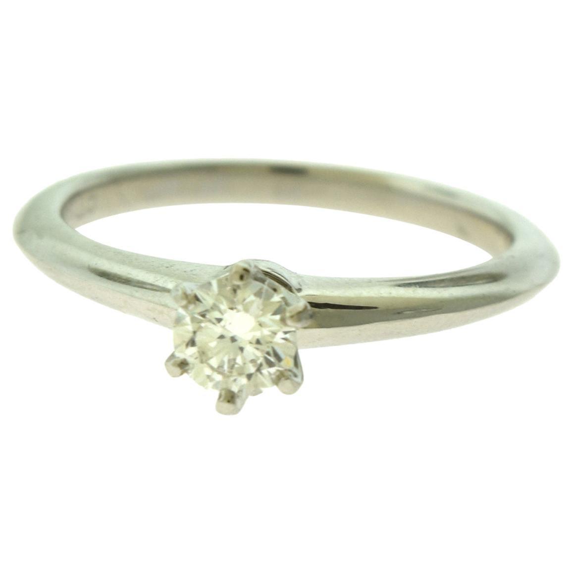 Tiffany & Co. Tiffany Diamond Single Solitaire Platinum Engagement Ring