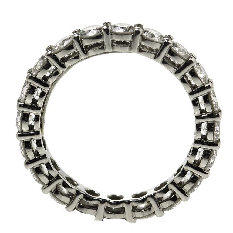Tiffany & Co. Tiffany Embrace Diamond Platinum Eternity Band Ring 46 In Good Condition For Sale In Dubai, Al Qouz 2