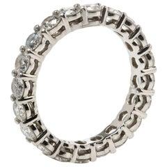 Tiffany & Co. Tiffany Embrace Diamond Platinum Eternity Band Ring 46