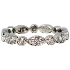 Tiffany & Co. Tiffany Jazz .61 Carat Round Diamond Band Ring in Platinum