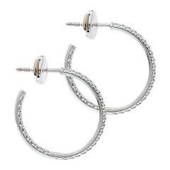 Tiffany & Co. Tiffany Metro Diamond 18k White Gold Hoop Earrings