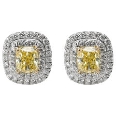 Tiffany & Co. Tiffany Soleste Diamond Earrings in Platinum Fancy Yellow