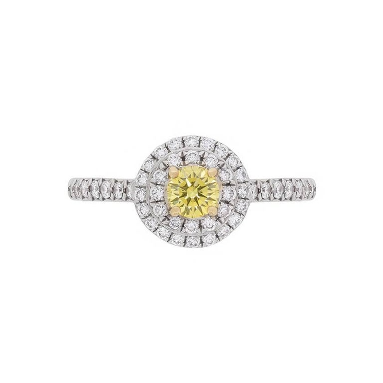 ccb0c15e3 Tiffany & Co. 'Tiffany Soleste' Fancy Color Yellow Diamond Engagement Ring  For Sale