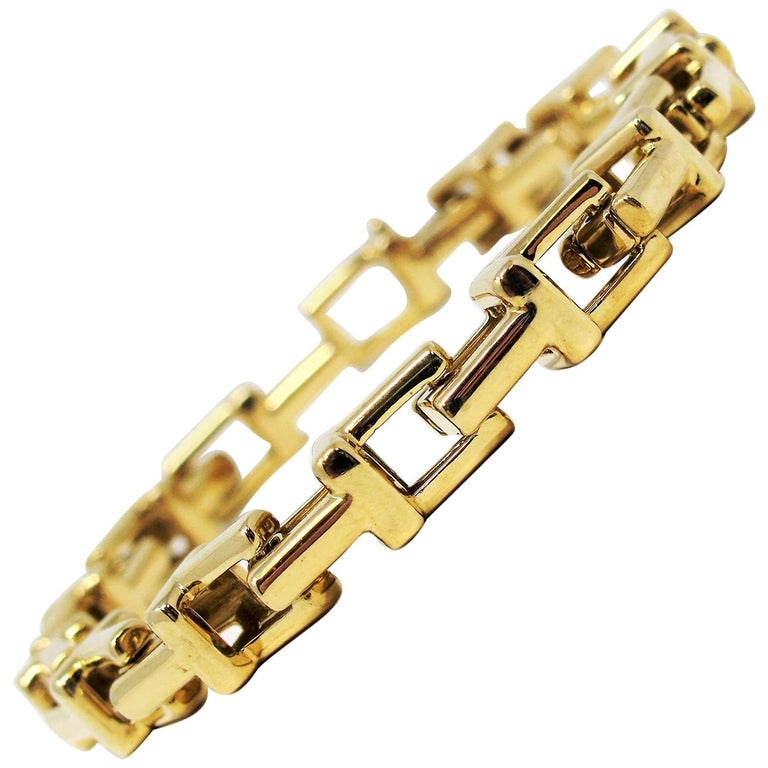 "Tiffany & Co. Tiffany ""T"" Chain Link Bracelet 18 Karat Yellow Gold"