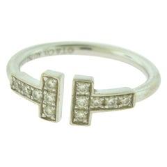 Tiffany & Co. Tiffany T Diamond Ring in 18 Karat White Gold