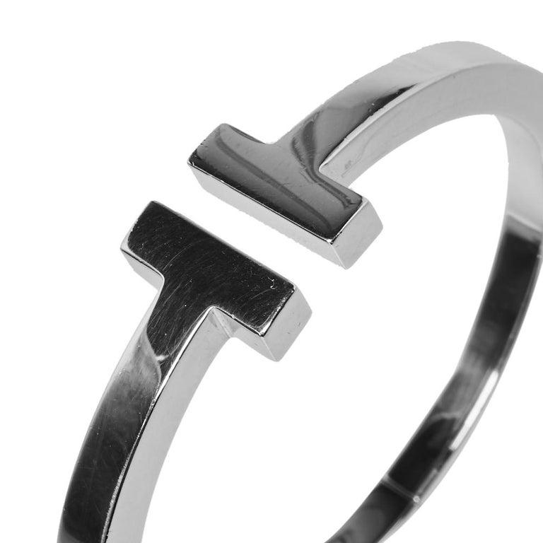 Tiffany & Co. Tiffany T Silver Square Bracelet 3