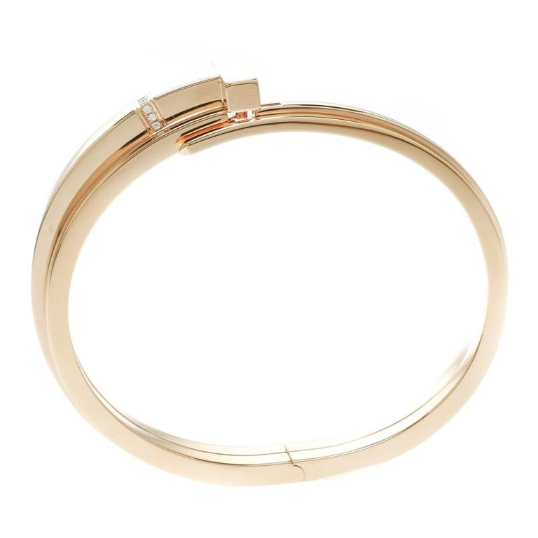 542555067 ... Rose Gold Cuff Bracelet For. The Tiffany T collection by Tiffany & Co.  is inspired by the city of New