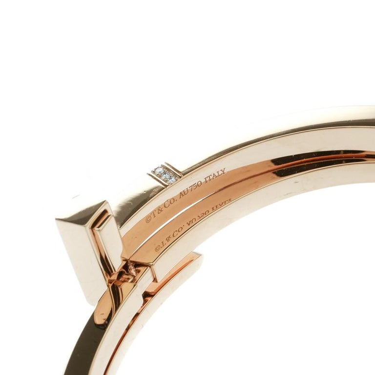 0cc80daf2 Women's Tiffany & Co. Tiffany T Square Wrap Diamond & 18k Rose Gold Cuff  Bracelet