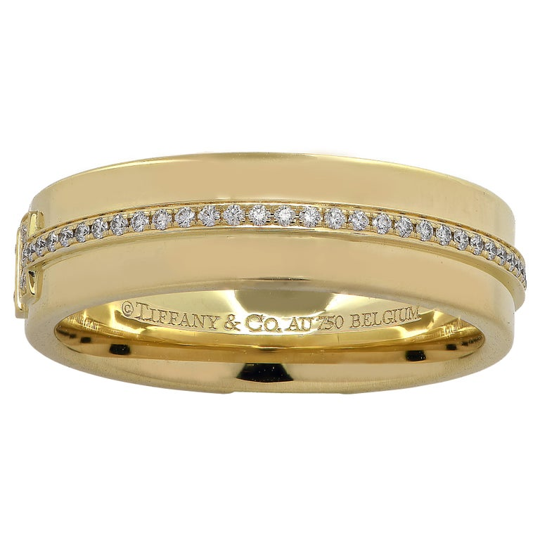 Tiffany And Co Tiffany T Two Diamond Band For Sale At 1stdibs