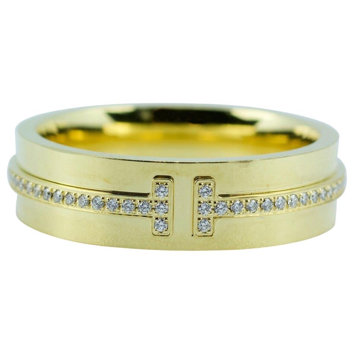 Tiffany & Co. Tiffany T-Wide Diamond Ring 18 Karat Yellow Gold