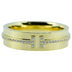 Tiffany & Co. Tiffany T-Wide Diamond Ring 18 Karat Yellow Gold