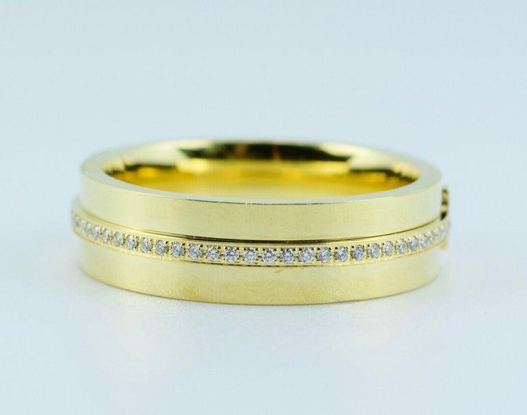 Round Cut Tiffany & Co. Tiffany T-Wide Diamond Ring 18 Karat Yellow Gold For Sale