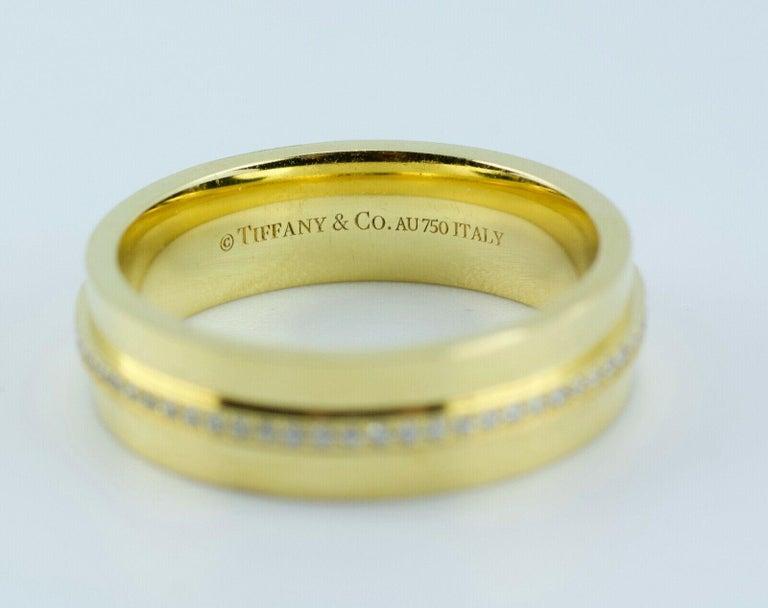 Women's or Men's Tiffany & Co. Tiffany T-Wide Diamond Ring 18 Karat Yellow Gold For Sale