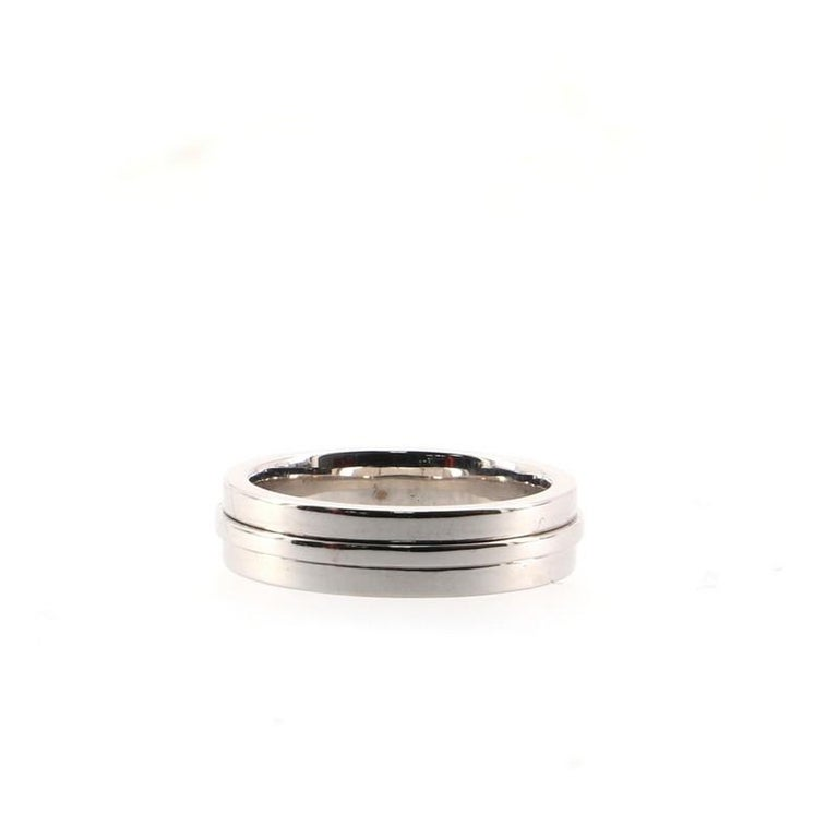 Tiffany & Co. Tiffany T Wide Ring 18K White Gold In Good Condition For Sale In New York, NY