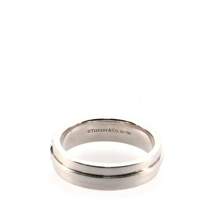 Women's or Men's Tiffany & Co. Tiffany T Wide Ring 18K White Gold For Sale