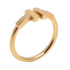 Tiffany & Co. Tiffany T Wire 18K Yellow Gold Ring Size EU 51