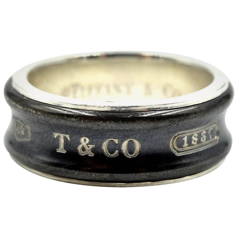 6dd51fdd67a82 Tiffany & Co. Titanium and Sterling Silver Gents Ring